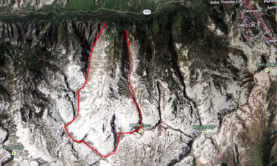 Hogum outlined in red, Snowbird to the east