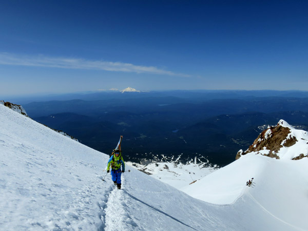 Only a few hundred feet to go before the summit ridge