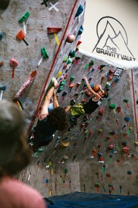Climbers push their limits at the Gravity Vault local ABS