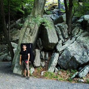 One of the many boulders that Matt has climbed