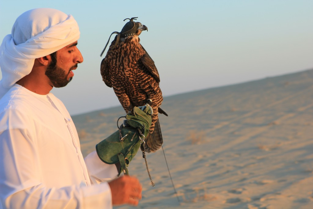One of my middle-eastern hosts with his falcon