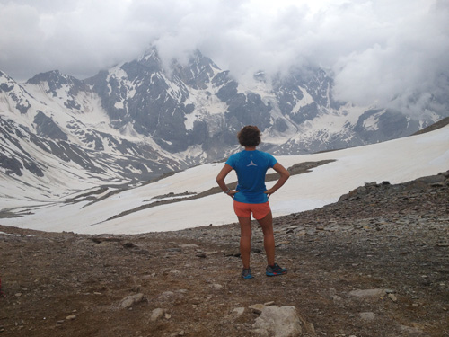 Running high above tree line where the skiing begins
