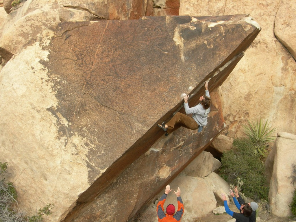 Chris Sharma on the crux of his FA of Iron Resolution