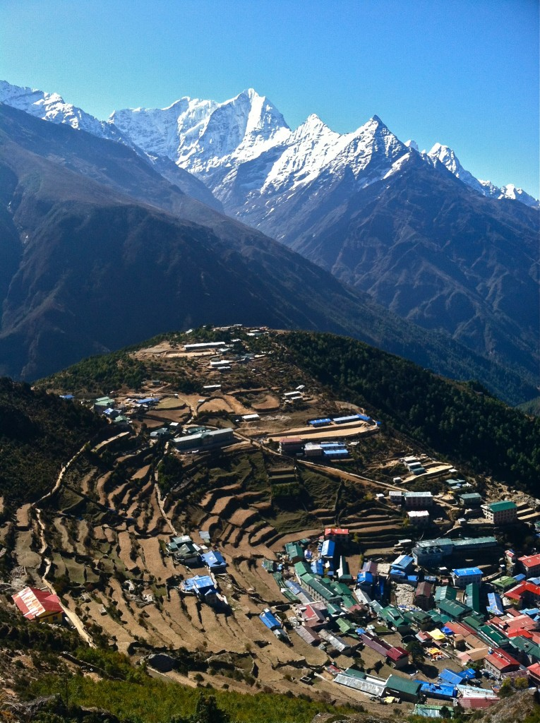 This town of Namche Bazaar is similar to Thame. Both have been destroyed