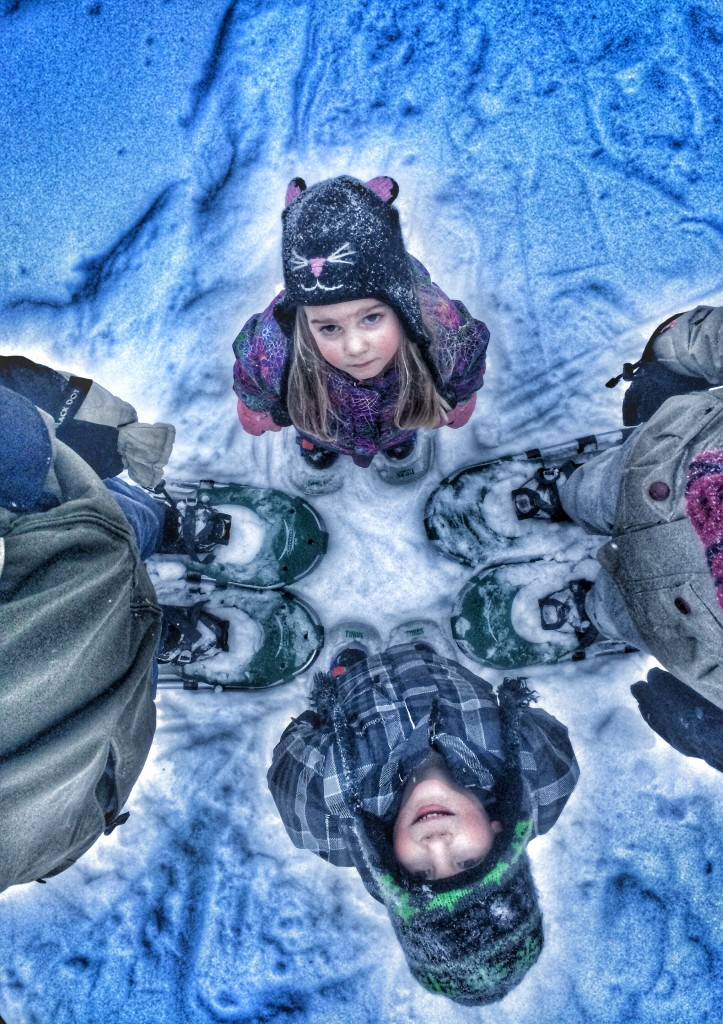 Angela_family_snowshoes