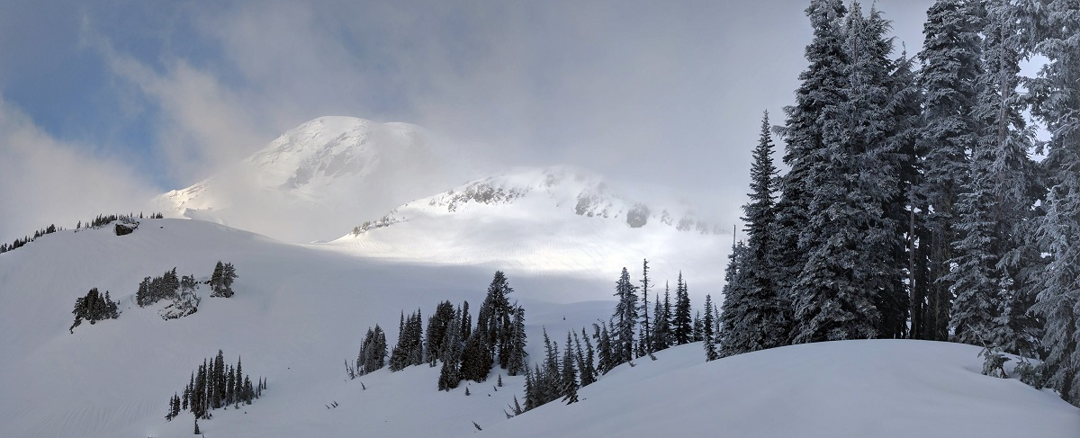 snowshoeing, Snowshoeing in Paradise at Mt. Rainier National Park