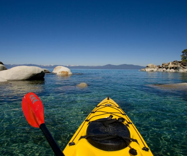 spring in Lake Tahoe paddling