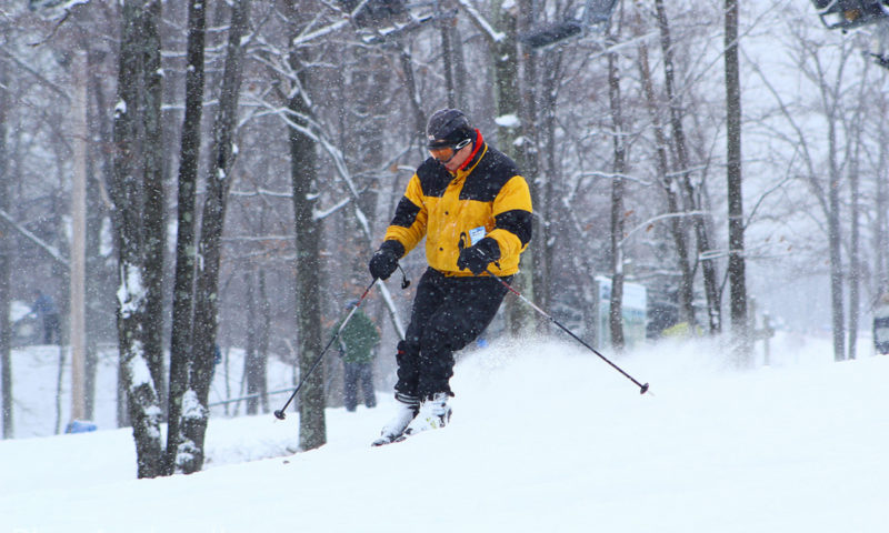 Carving it up at Jack Frost Mountain in the Poconos