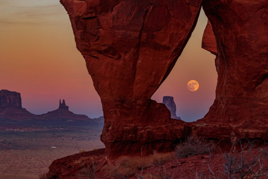 southwest, Chasing the Super Moon through the American Southwest