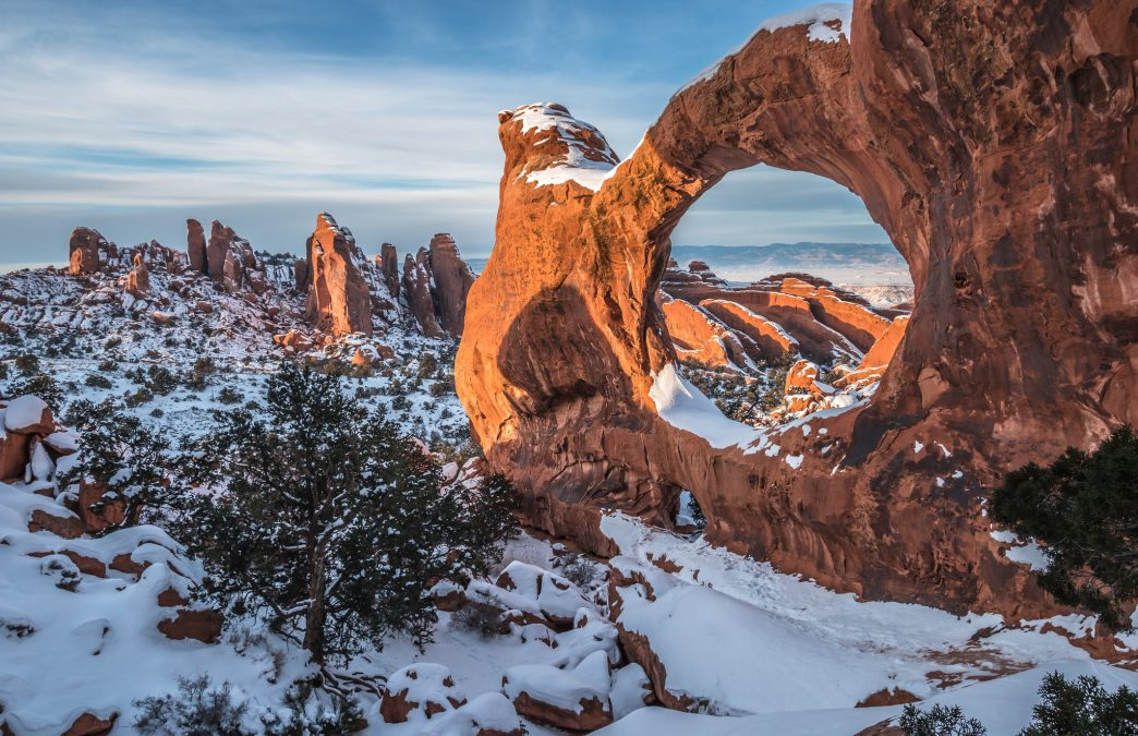 Snowy Solitude: The Best Winter Hikes in Arches National Park