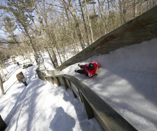 The Luge track in Muskegon is one of the few places in the United States to try the sport.