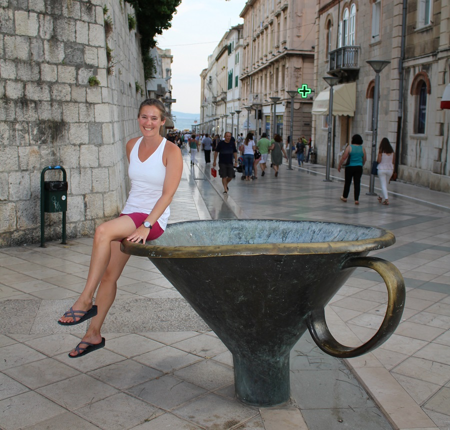 Lady enjoys her visit to Croatia.