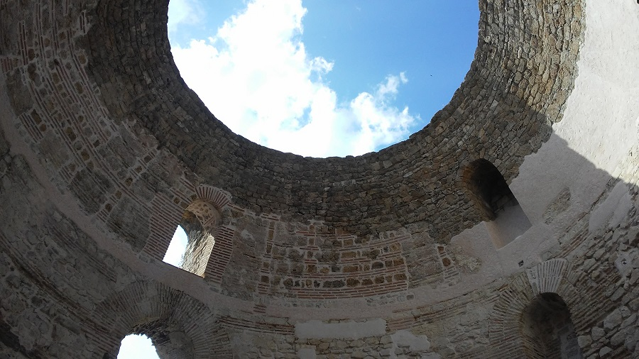 Ancient vestibule in Split, Croatia.