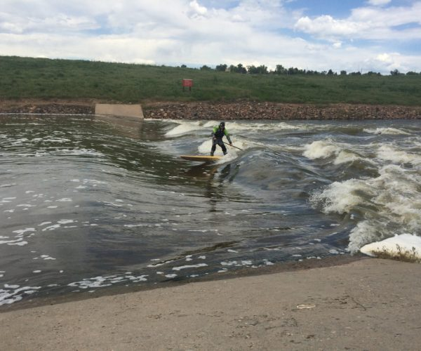 "Chatfield's ""Miracle Wave"" appears like magic below the dam when the water is right."