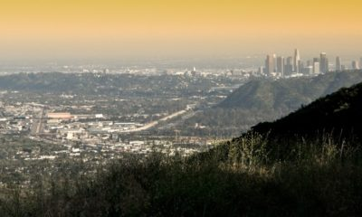 A view of downtown Los Angeles from the Verdugo Hills in Burbank.