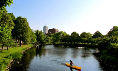 Paddling along the Charles River Esplanade is a must-do Boston adventure