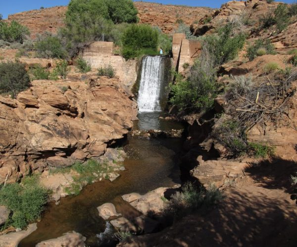 An irresistible swimming hole awaits at the top of Mill Creek in Moab.