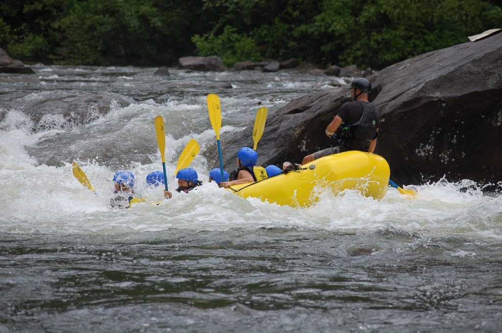 Whitewater Rafting 101 - A group whitewater rafting