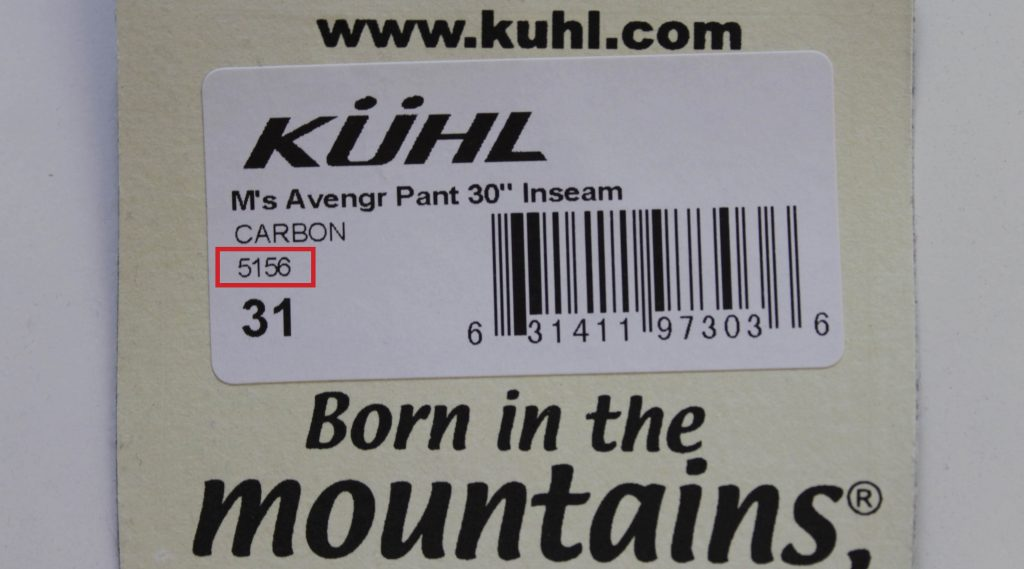 How To Find A KÜHL Style You Ordered 1
