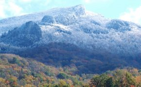 Even on otherwise temperate days, Grandfather can be frigid and frosty
