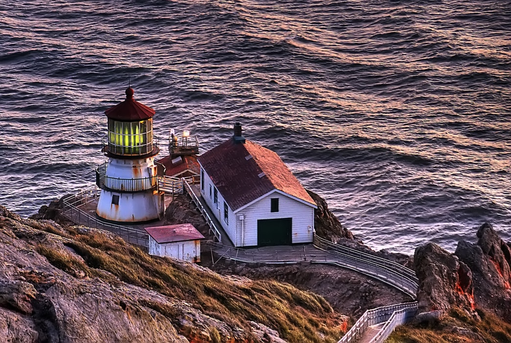 One of many things to do in Point Reyes, a hike down to the Point Reyes Lighthouse involves TK steps.