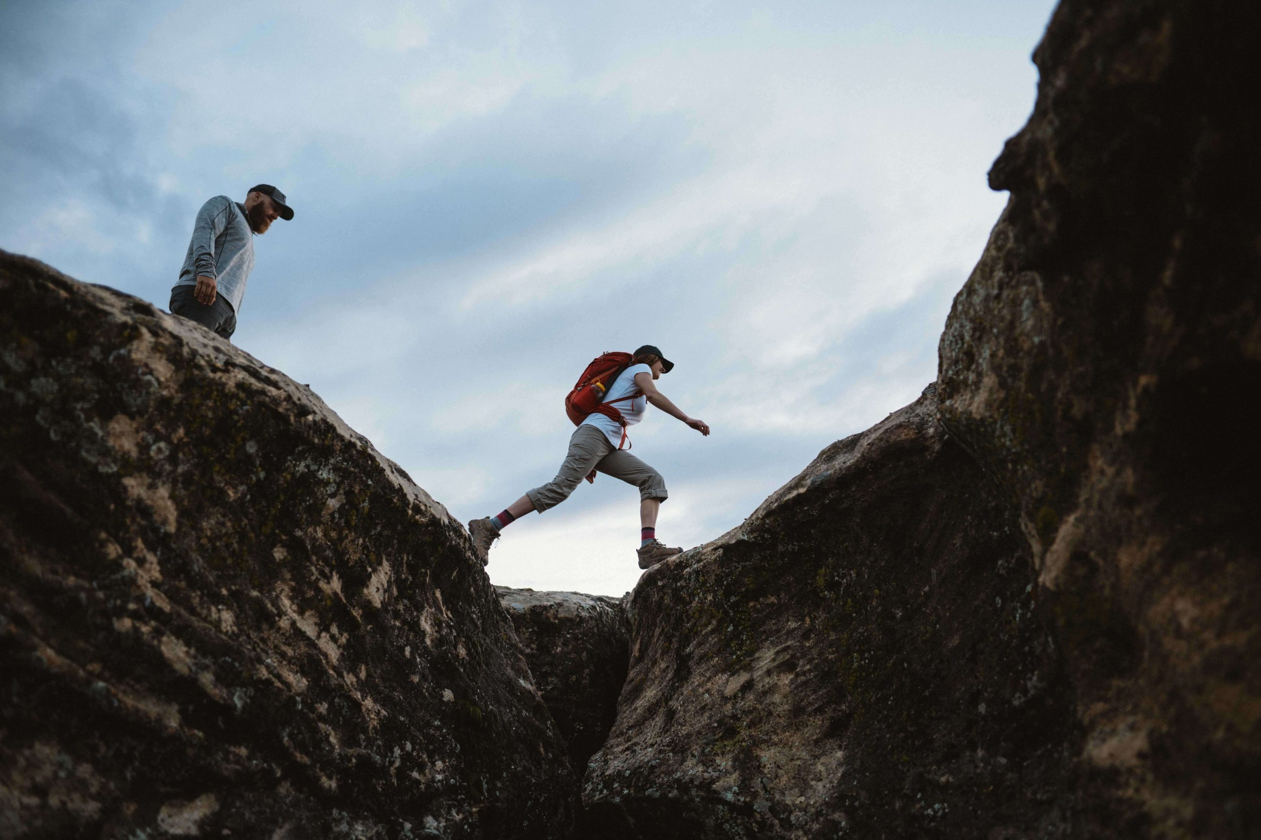 First Aid Kit Checklist Featured Image - Man and woman in KUHL clothing hiking