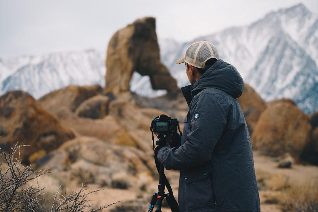 Using a tripod for landscape photography can help you take sharper images, stabilize camera on a windy day and try out long exposures and panorama. Product shown: Kollusion.