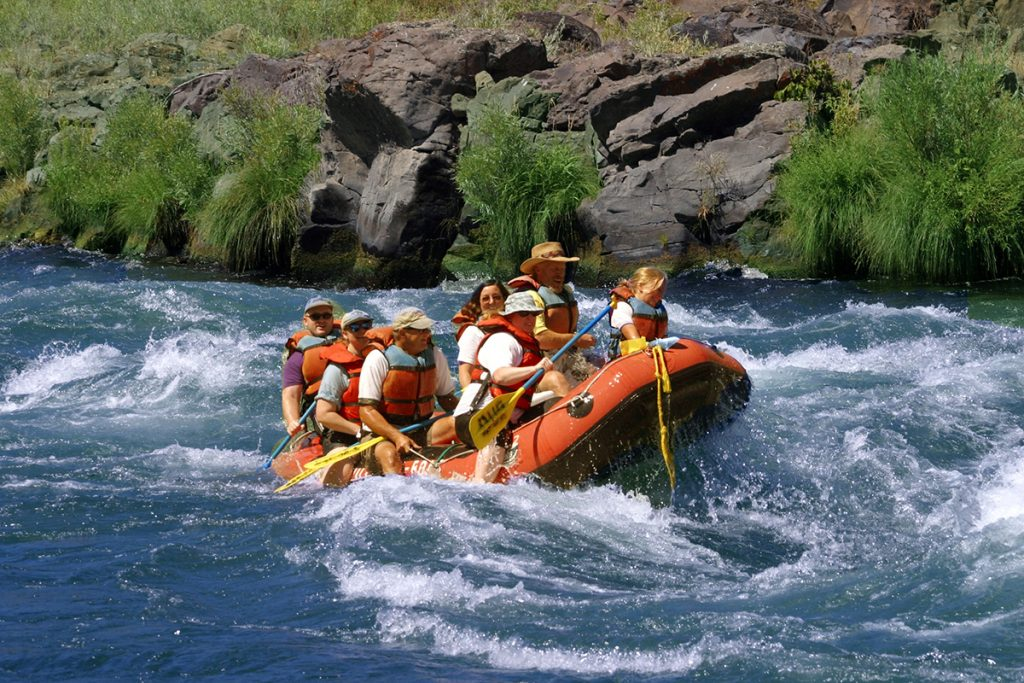 whitewater rafting on the river