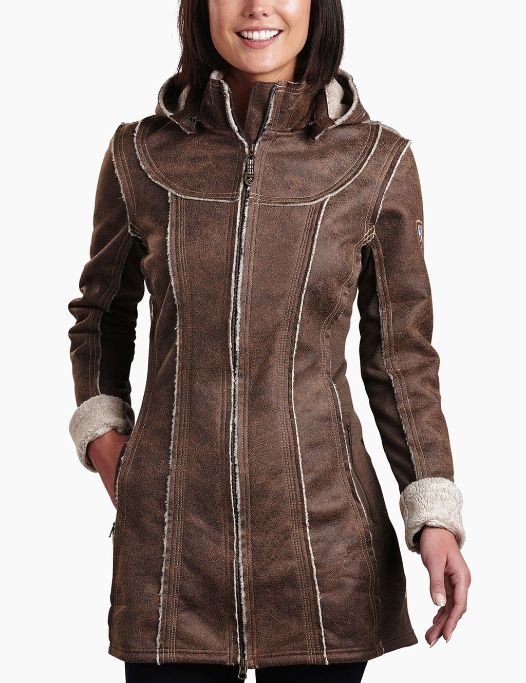 Shop Dani Sherpa Trench - KUHL Studio Photo Gifts for female travelers