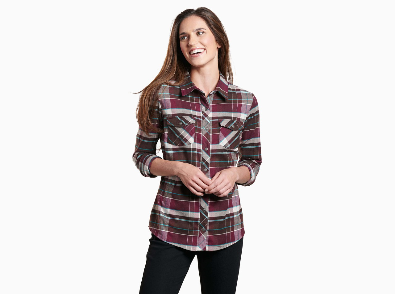Greta Flannel In Women Long Sleeve Khl Clothing