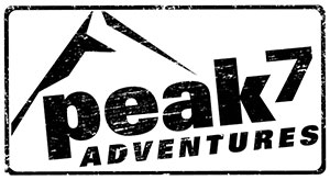 Peak 7 Adventures black and white Logo