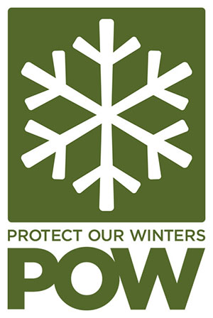 POW Protect our winters green and white logo