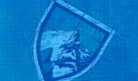 KÜHL Clothing logo with a blue tint.