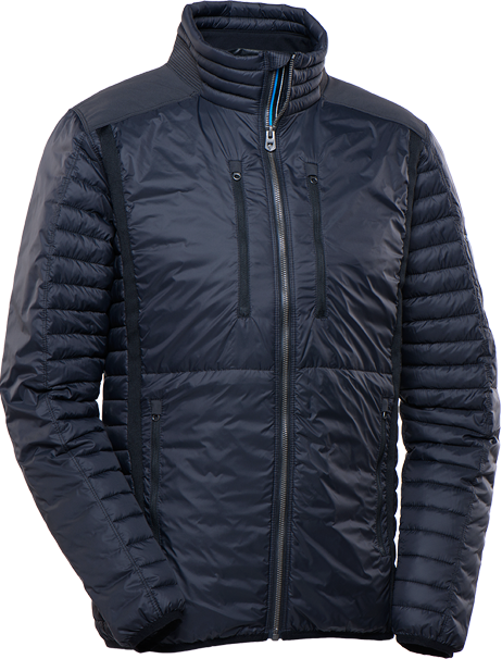 A studio image of men's Spyfire Jacket with transparent background.