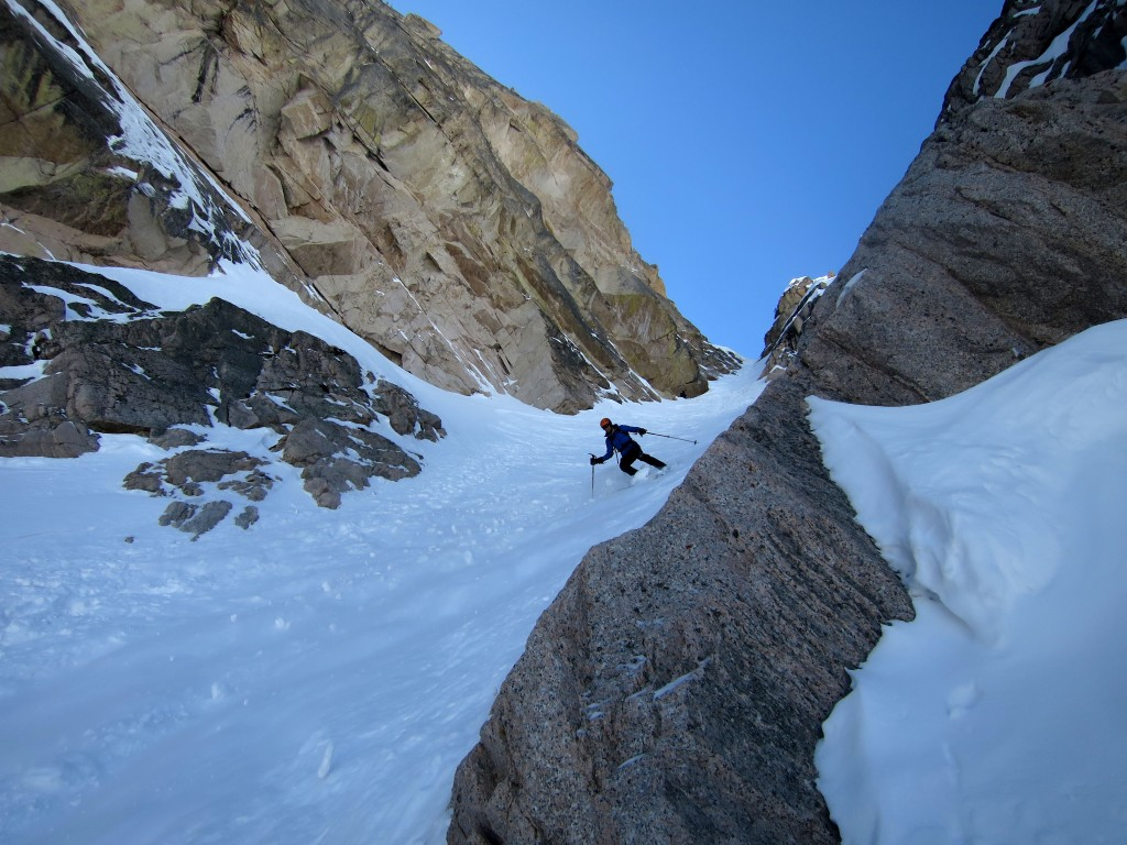 Fun in the couloir