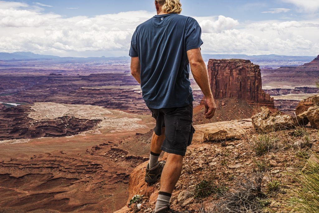A photo of filmmaker and photographer Gary Orona while on location in wilderness.